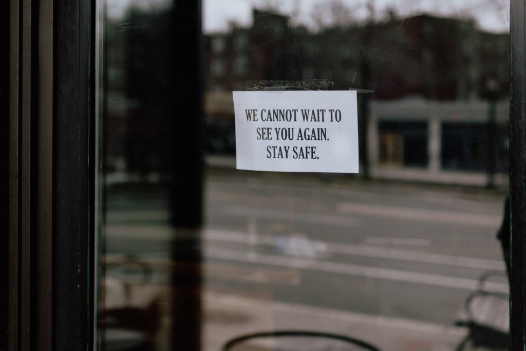 Photo showing a shopfront closed due to the Coronavirus